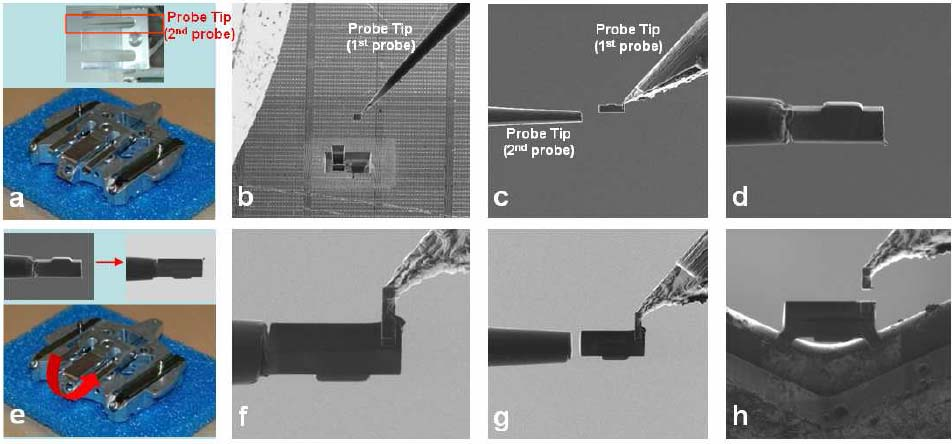 TEM images of NAND flash sample by the conventional method (a) and backside milling method (b)