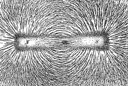 Magnetic field lines created by a permanent magnet