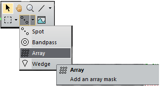 Array mask annotation on Gatan DigitalMicrograph