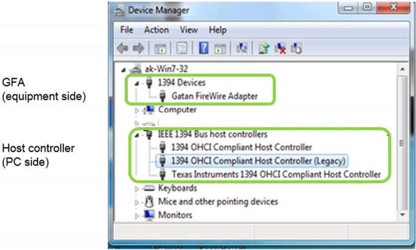 Two sets of devices as seen by Device Manager